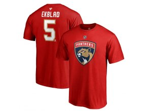 Tričko #5 Aaron Ekblad Florida Panthers Stack Logo Name & Number