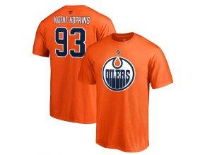 Tričko #93 Ryan Nugent-Hopkins Edmonton Oilers Stack Logo Name & Number