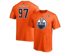 Dětské Tričko #97 Connor McDavid Edmonton Oilers Stack Logo Name & Number