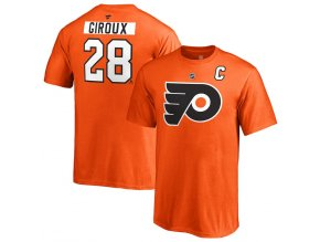 Dětské Tričko #28 Claude Giroux Philadelphia Flyers Stack Logo Name & Number