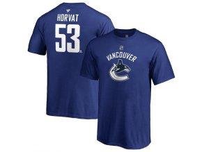 Dětské Tričko #53 Bo Horvat Vancouver Canucks Stack Logo Name & Number