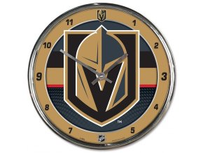 Hodiny Vegas Golden Knights WinCraft Chrome Wall Clock