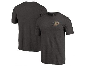 Tričko Anaheim Ducks Primary Logo Left Chest Distressed Tri-Blend