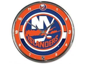 Hodiny New York Islanders WinCraft Chrome Wall Clock