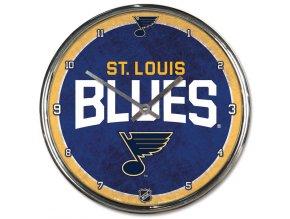 Hodiny St. Louis Blues WinCraft Chrome Wall Clock