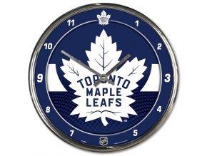 Hodiny Toronto Maple Leafs WinCraft Chrome Wall Clock