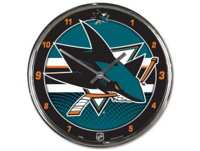 Hodiny San Jose Sharks WinCraft Chrome Wall Clock