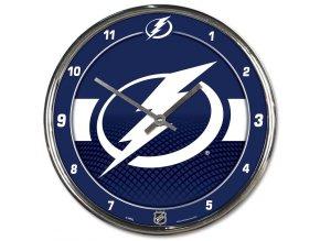Hodiny Tampa Bay Lightning WinCraft Chrome Wall Clock