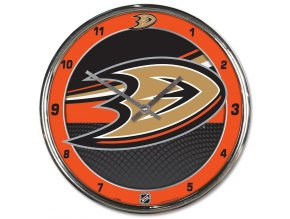 Hodiny Anaheim Ducks WinCraft Chrome Wall Clock
