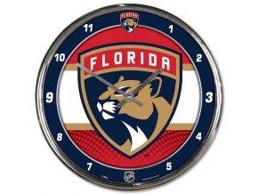 Hodiny Florida Panthers WinCraft Chrome Wall Clock