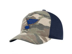 Kšiltovka St. Louis Blues Adidas Camo Adjustable