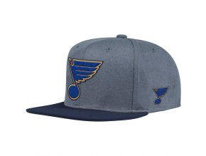 Kšiltovka St. Louis Blues Adidas Heather Snapback