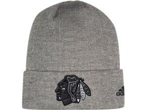 Zimní Čepice Chicago Blackhawks Adidas India Cuffed Knit