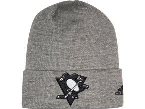 Zimní Čepice Pittsburgh Penguins Adidas India Cuffed Knit