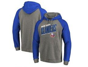 Mikina New York Islanders Slant Strike Hoodie Tri-Blend