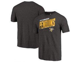 Tričko Pittsburgh Penguins Slant Strike Tri-Blend