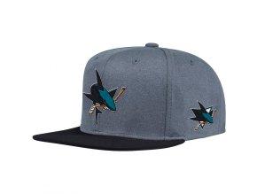 Kšiltovka San Jose Sharks Adidas Heather Snapback