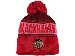 Zimní Čepice Chicago Blackhawks Adidas Mascot Cuffed Knit