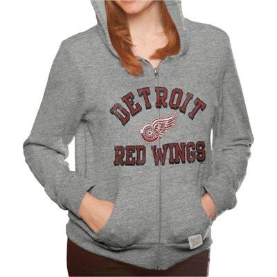 Original Retro Brand Dámská mikina Detroit Red Wings Tri-Blend Full Zip  Velikost  XL b36be18419