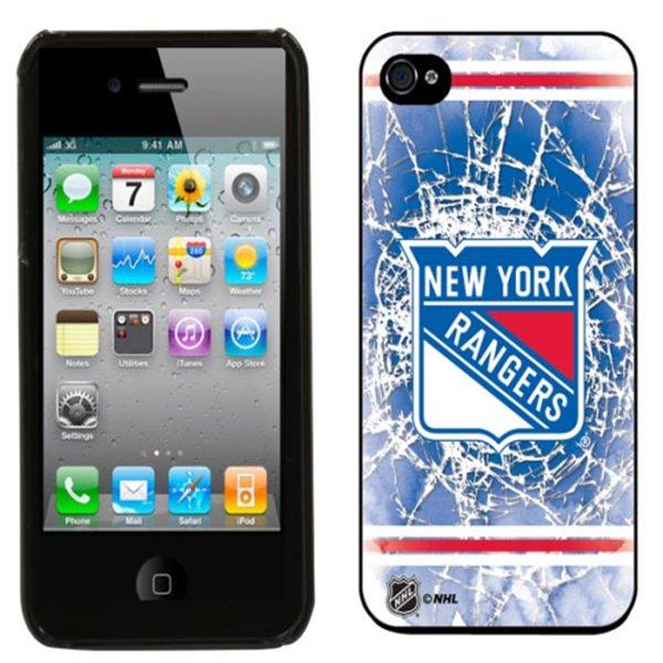 NHL kryt Iphone 4/4S New York Rangers Shattered