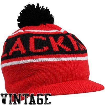 af9f1e283bb Mitchell   Ness NHL kulich s kšiltem a bambulí Chicago Blackhawks vintage  winter