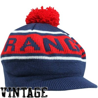 fc4638f8d0f Mitchell   Ness NHL kulich s kšiltem a bambulí New York Rangers vintage  winter