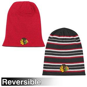 Reebok chicago blackhawks Faceoff Long Reversible Knit Hat