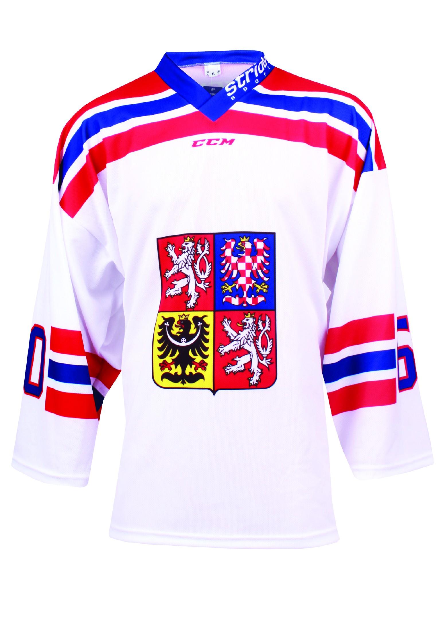 Dres Czech Ice Hockey Team CCM sublimace - bílý Velikost: L