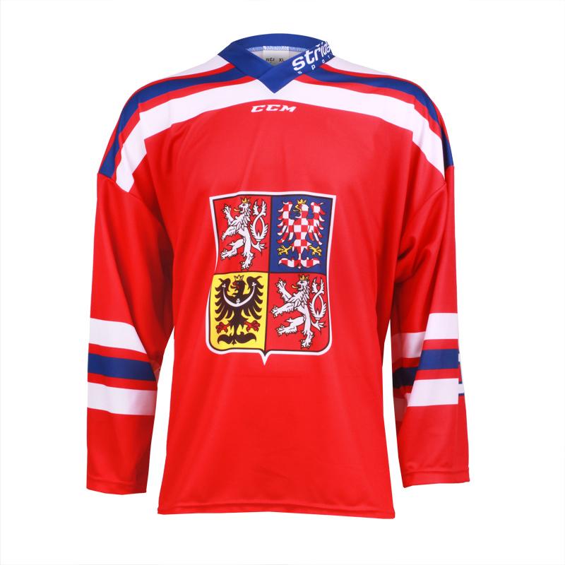 Dres Czech Ice Hockey Team CCM sublimace - červený Velikost: M