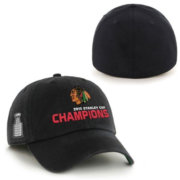 7dea852d34d 47 Brand Kšiltovka Chicago Blackhawks 2015 Stanley Cup Champions Franchise  BLACK Velikost  S
