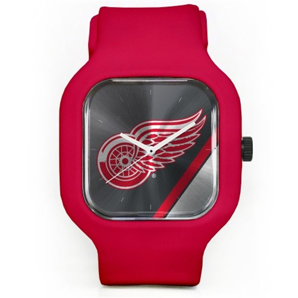 Old Time Hockey Hodinky Detroit Red Wings Modify Watches Unisex Silicone - červené