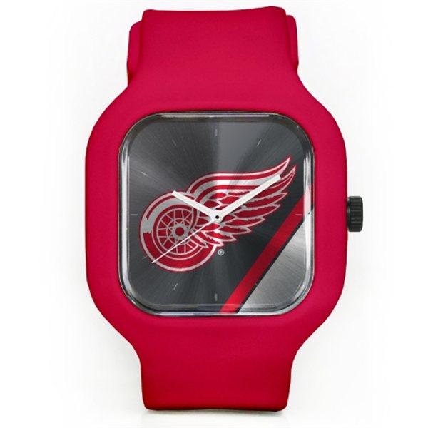 Old Time Hockey Hodinky Detroit Red Wings Modify Watches Unisex Silicone - červené
