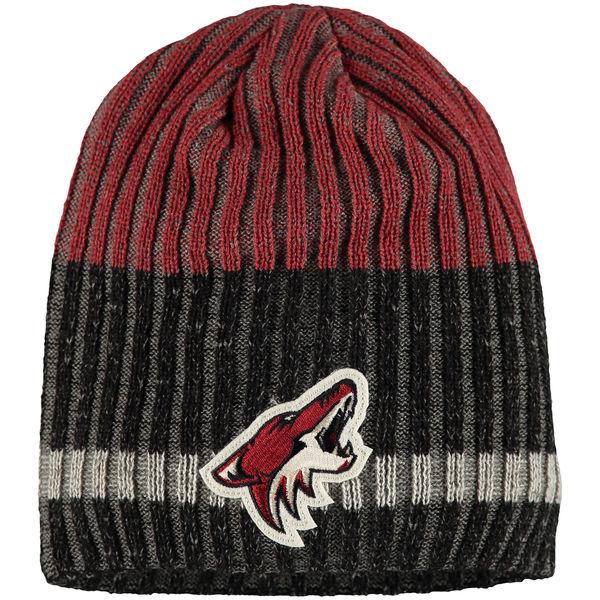 Zimní čepice Arizona Coyotes Reebok Face-Off Heathered Knit Beanie