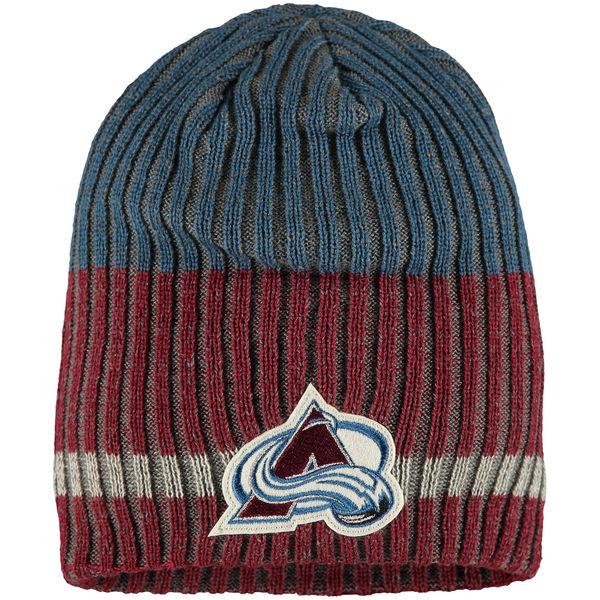 Zimní čepice Colorado Avalanche Reebok Face-Off Heathered Knit Beanie