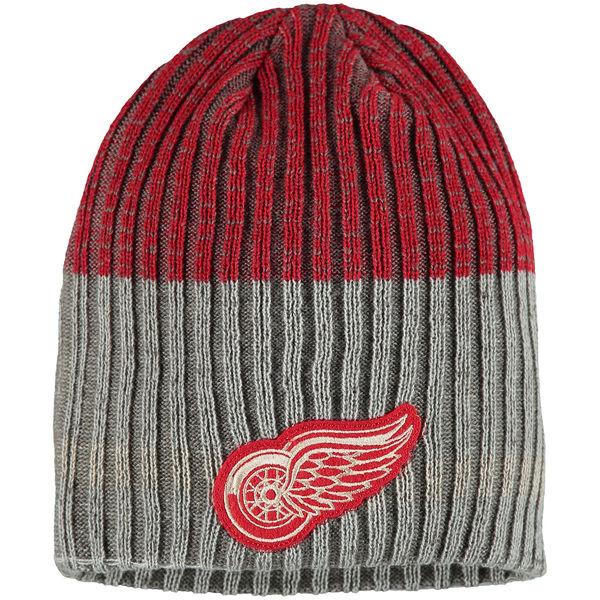 Zimní čepice Detroit Red Wings Reebok Face-Off Heathered Knit Beanie