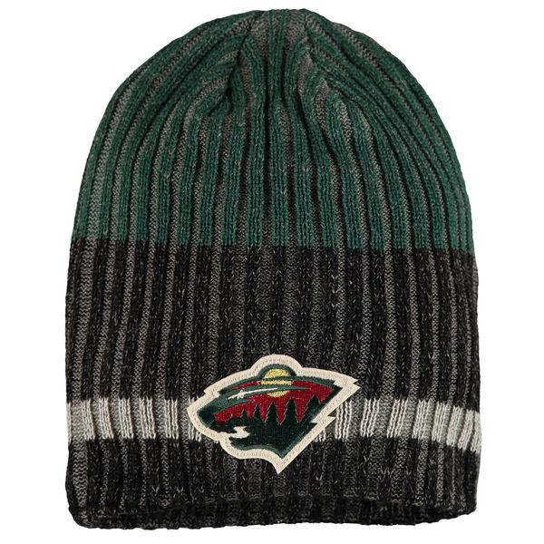 Zimní čepice Minnesota Wild Reebok Face-Off Heathered Knit Beanie