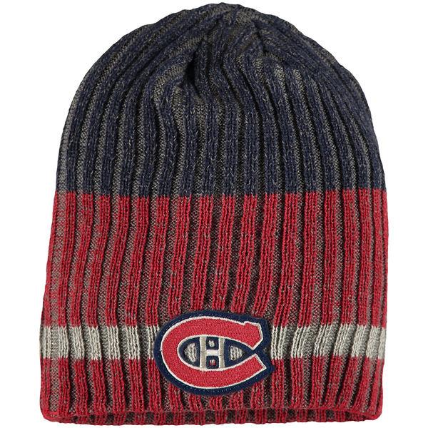 Zimní čepice Montreal Canadiens Reebok Face-Off Heathered Knit Beanie