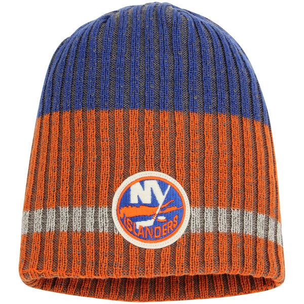 Zimní čepice New York Islanders Reebok Face-Off Heathered Knit Beanie