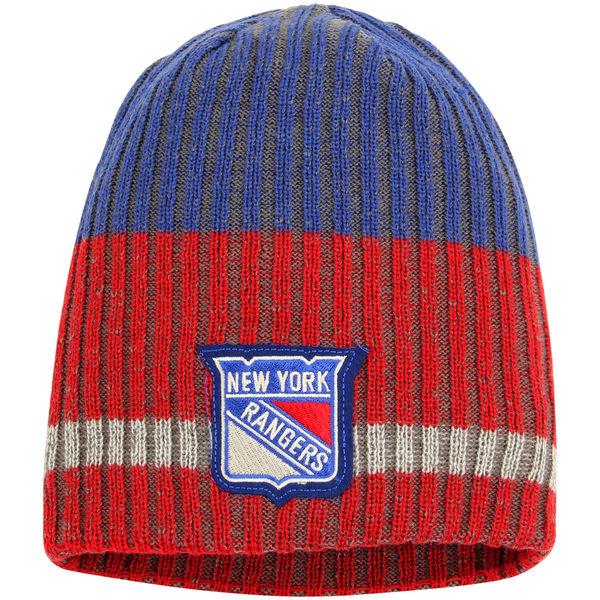 Zimní čepice New York Rangers Reebok Face-Off Heathered Knit Beanie
