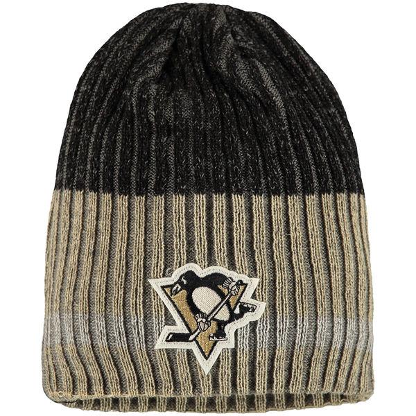 Zimní čepice Pittsburgh Penguins Reebok Face-Off Heathered Knit Beanie