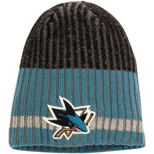Zimní čepice San Jose Sharks Reebok Face-Off Heathered Knit Beanie