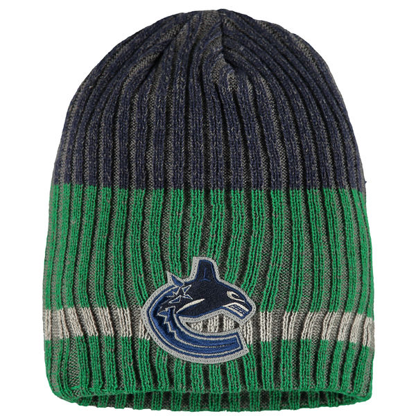 Zimní čepice Vancouver Canucks Reebok Face-Off Heathered Knit Beanie