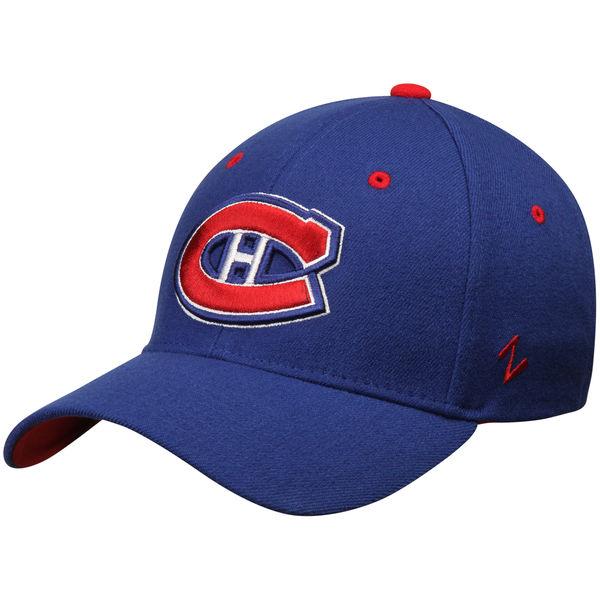Kšiltovka Montreal Canadiens Zephyr Breakaway Flex modrá Velikost: S