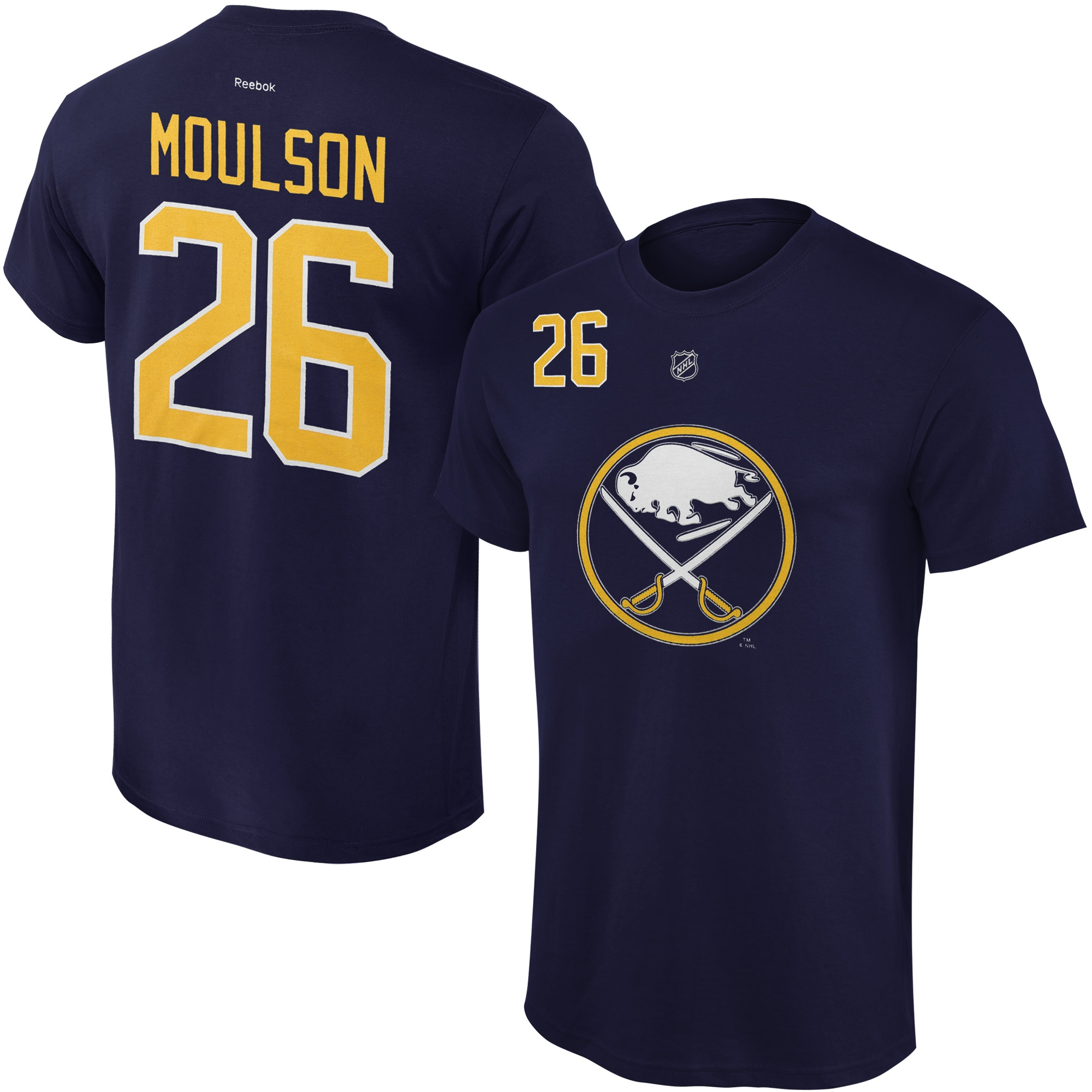 Reebok Dětské tričko Matt Moulson Buffalo Sabres NHL Name & Number Velikost: Dětské M (9 - 11 let)