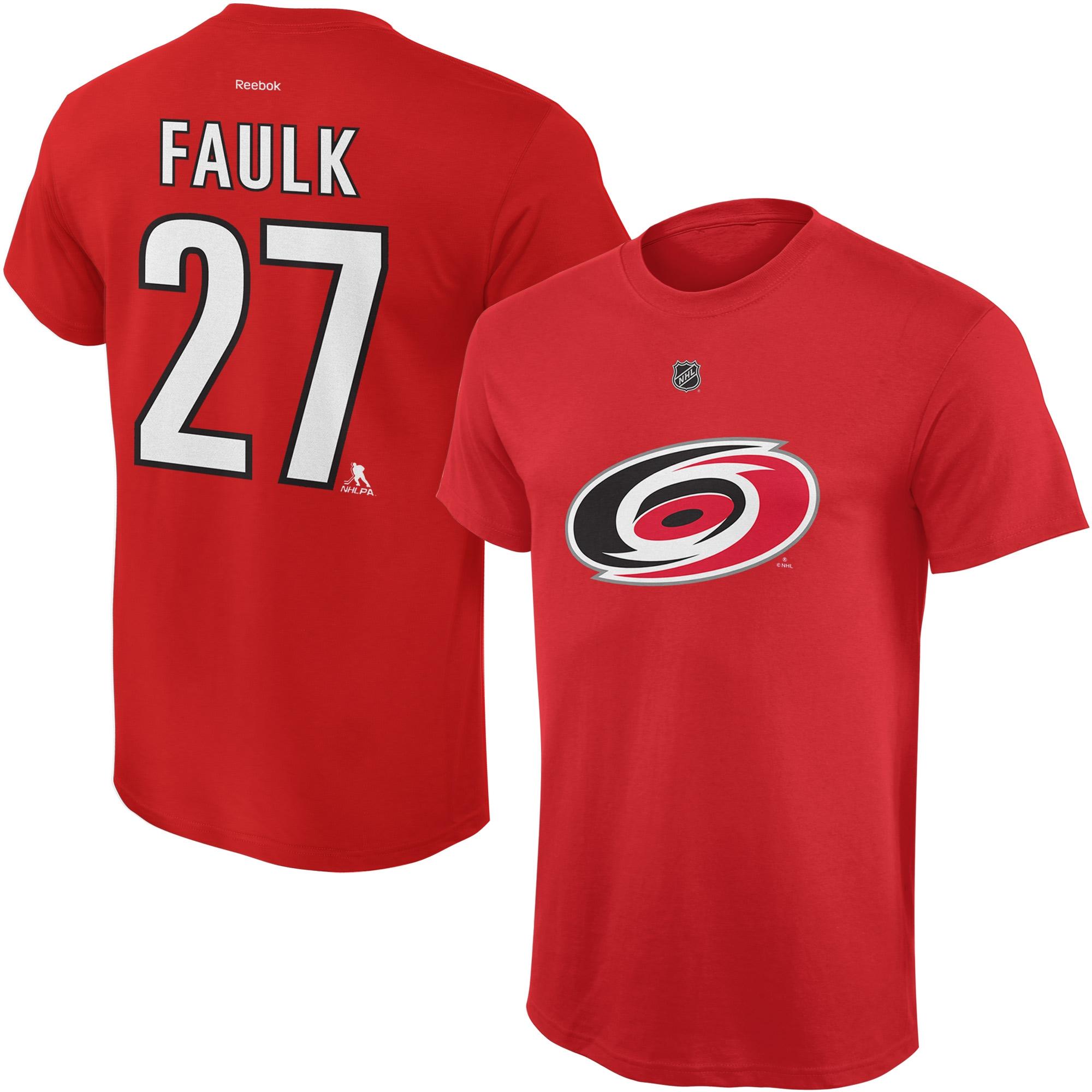 Reebok Dětské tričko Justin Faulk Carolina Hurricanes NHL Name & Number Velikost: Dětské M (9 - 11 let)