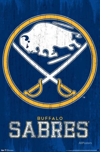 Trends NHL Plakát Buffalo Sabres Primary Logo