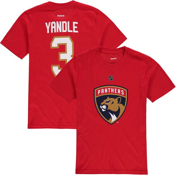 Reebok Dětské Tričko Keith Yandle Florida Panthers Name & Number Velikost: Dětské M (9 - 11 let)