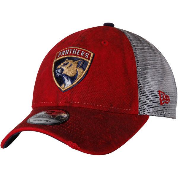 New Era Kšiltovka Florida Panthers Team Rustic Trucker 9TWENTY Adjustable  Snapback Hat 12136eafeb