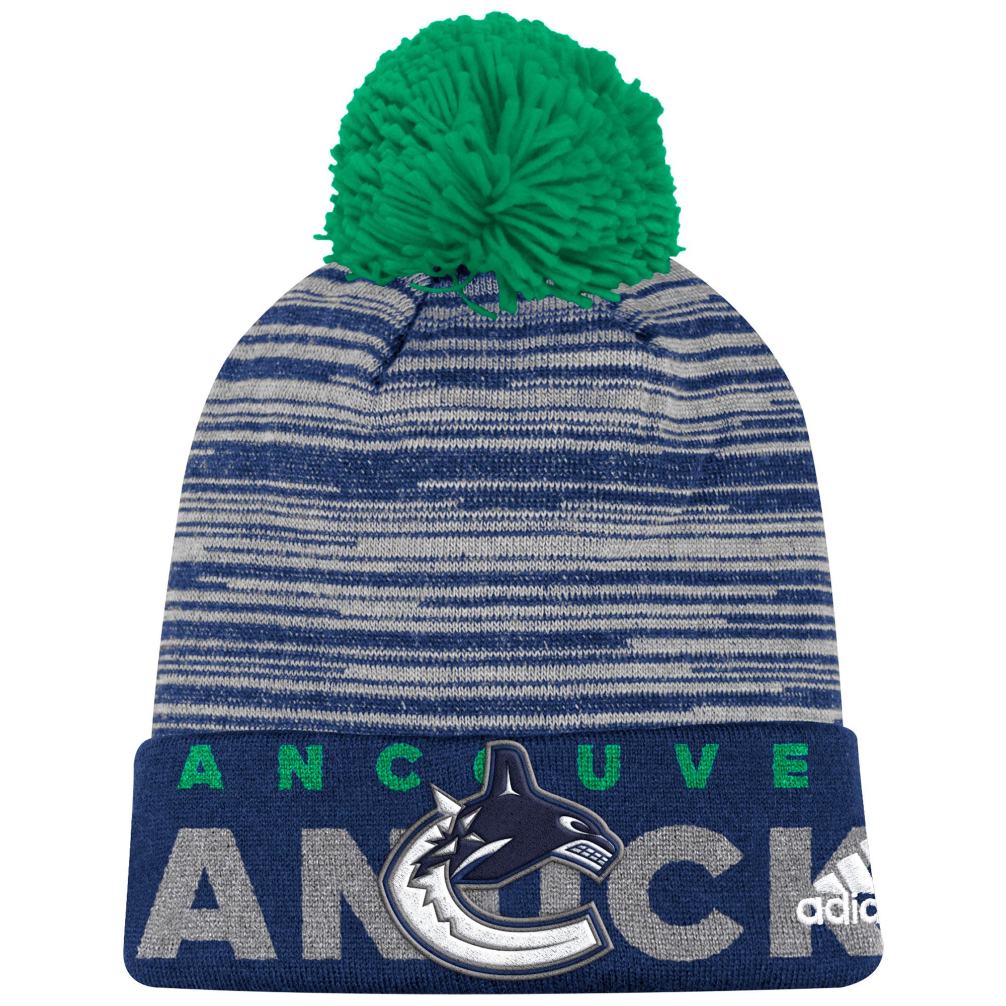 Adidas Dětská zimní čepice Vancouver Canucks NHL Team Logo Cuffed