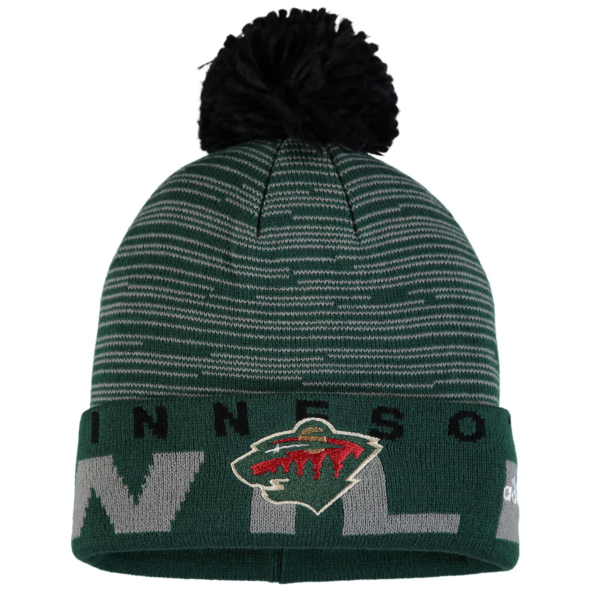 Adidas Dětská zimní čepice Minnesota Wild NHL Team Logo Cuffed